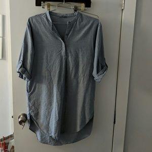 COS shirt dress blue denim small